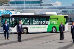 L'aéroport de Munich teste un bus électrique à prolongateur bioGNL