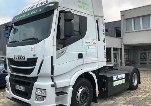 Le Groupe Altrans réceptionne de nouveaux camions au gaz naturel