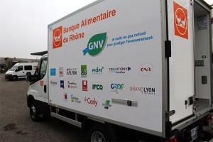 Un camion GNV pour la Banque Alimentaire du Rh�ne