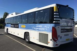 Rennes : un premier car GNV pour le réseau BreizhGo