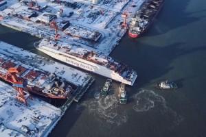 Brittany Ferries met à l'eau son nouveau navire GNL