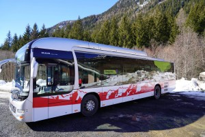 Le bus au gaz naturel en test dans la vallée de Chamonix