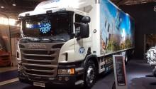 Un camion frigorifique au gaz naturel pour les surgelés Picard