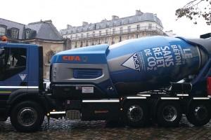 Un camion-toupie au GNV pour le Groupe Vicat