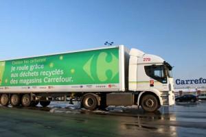 Carrefour : objectif 9 stations et 200 camions biogaz d'ici fin 2017