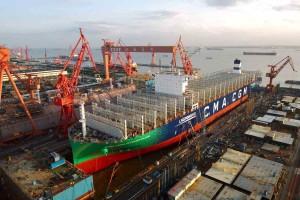 CMA CGM lance son premier porte-conteneurs géant au GNL