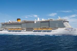 Costa Croisières prend livraison de son nouveau paquebot GNL