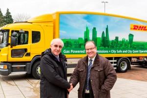 DHL lance l�exp�rimentation d�un camion au gaz naturel en Angleterre