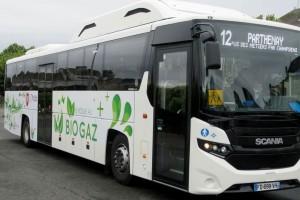 Un autocar GNV en test dans les Deux-Sèvres
