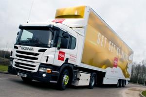 Angleterre � Scania livre son premier camion GNV Euro 6 � Argos