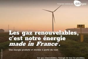 GRTgaz en campagne pour promouvoir les gaz renouvelables
