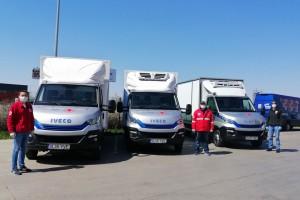 En Roumanie, Engie et Iveco font don de camions au gaz à la Croix-Rouge