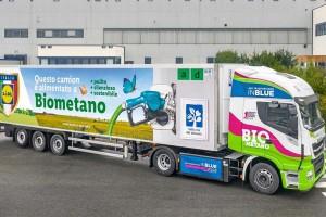 Italie : Lidl intègre le biométhane à sa flotte de poids lourds