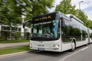 Le bus MAN Lion's City GNV �lu � Bus of the Year  2015 �