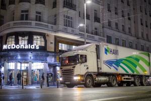 En Espagne, McDonald's roule au GNV avec HAVI et Scania