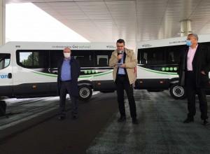 Nantes : la Sémitan présente ses nouveaux minibus au gaz naturel