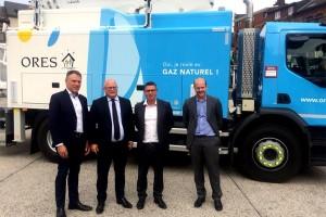 Belgique : un premier camion-élévateur au gaz naturel pour Ores