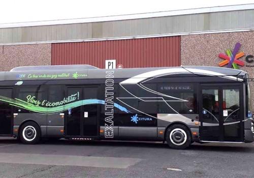 Reims : le bus GNV en test sur le réseau Citura avec GRDF