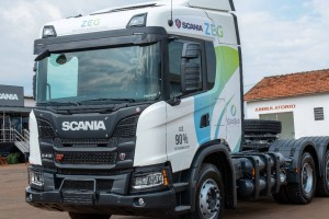 Scania débute la construction de camions GNV au Brésil