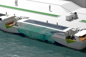 GRDF associé au projet de bateau hybride biogaz-électricité Green Deliriver