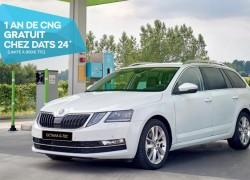 Belgique : DATS 24 offre un an de carburant pour l'acquisition d'une Skoda Octavia GNC