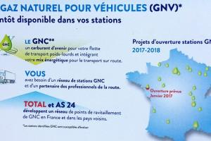AS 24 et Total annoncent l'ouverture de trois nouvelles stations GNV en France en 2017