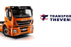Les Transports Thevenet re�oivent leur premier camion GNV