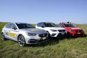 Les voitures GNV de Seat s'invitent au Tour de Romandie