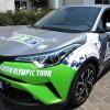 Ce Toyota C-HR hybride bioGNV va parcourir 25000 km pour rejoindre les JO de Tokyo