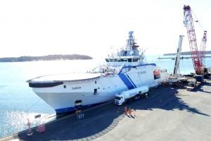 Ce navire des garde-côtes finlandais teste le bioGNL