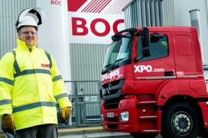 Diesel & GNL � XPO Logistics teste les camions dual-fuel en Angleterre