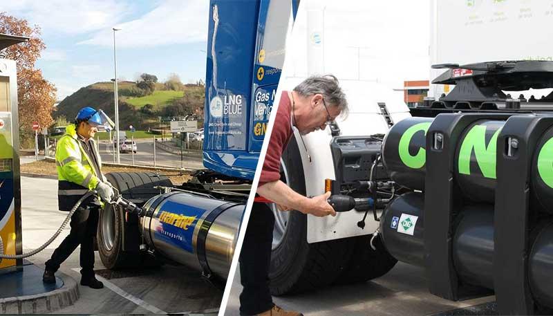 Camions GNC VS camions GNL : quelle technologie choisir pour les poids lourds ?
