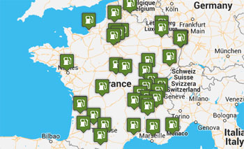 Carte des stations GNV en France