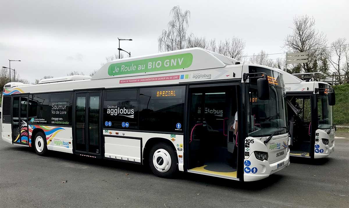 Bus GNV : Scania équipe les agglomérations de Nantes et de Saumur