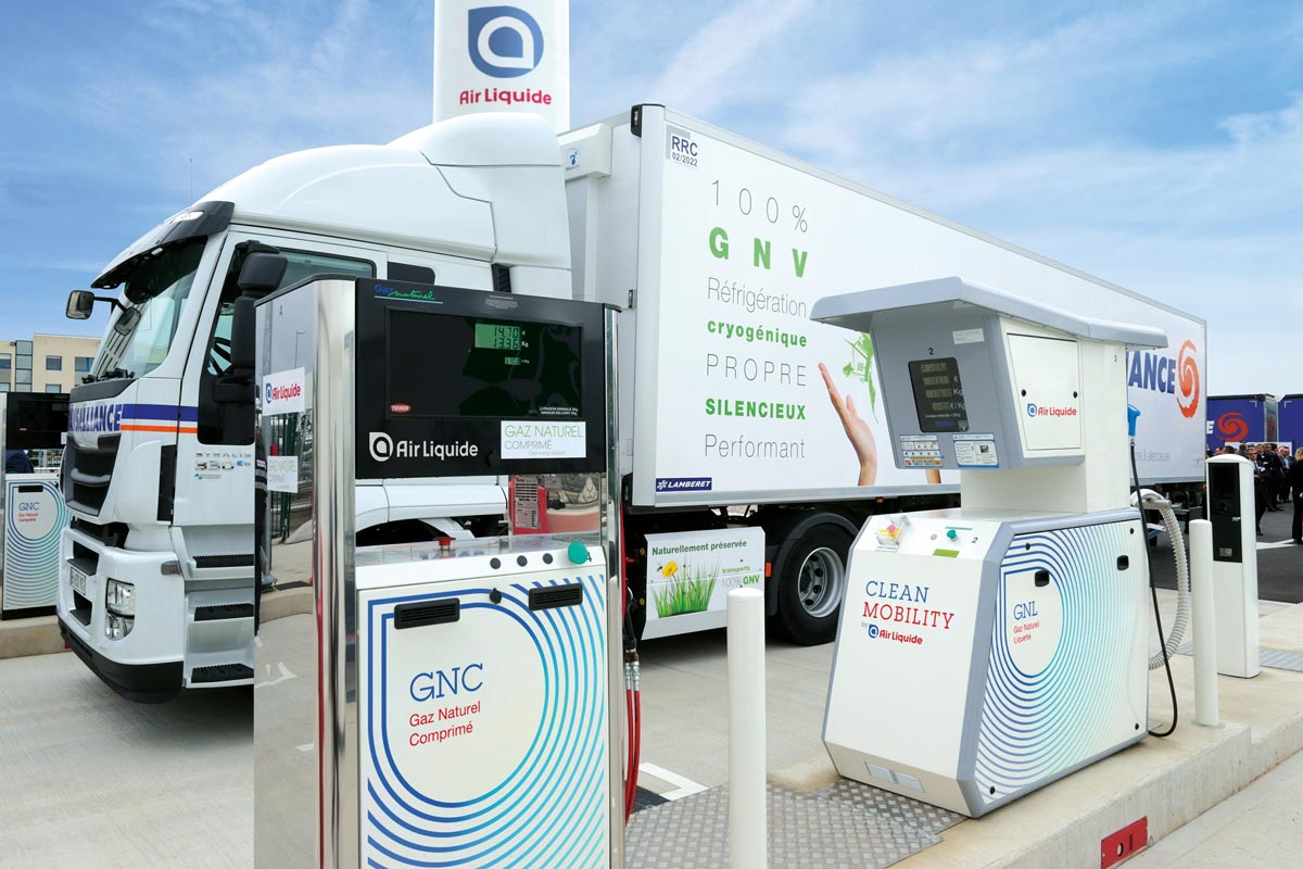 Les stations GNV Air Liquide accessibles avec la carte Shell