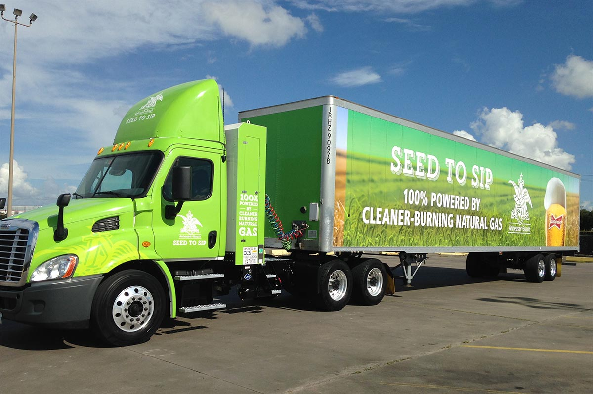 Le brasseur Anheuser-Busch comptera bientôt 340 camions GNV