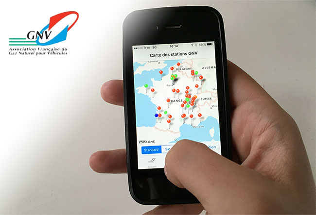 Stations GNV en France : une application mobile disponible sur iPhone