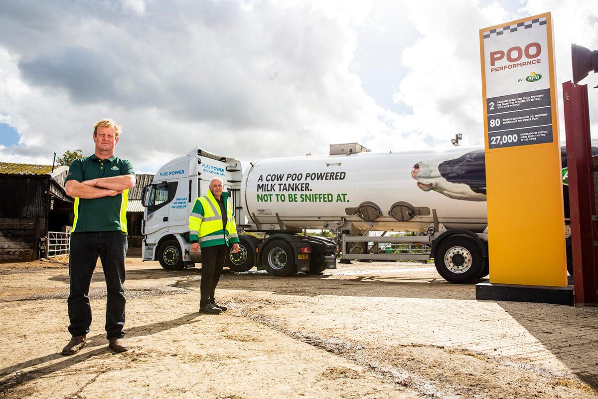 Grande-Bretagne : des camions laitiers alimentés en biogaz issu de fumier de vache