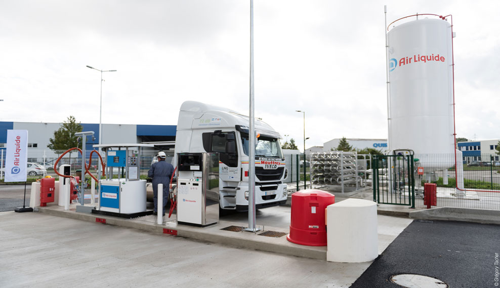 Artelia accompagne l'ouverture des stations et distributeurs GNV