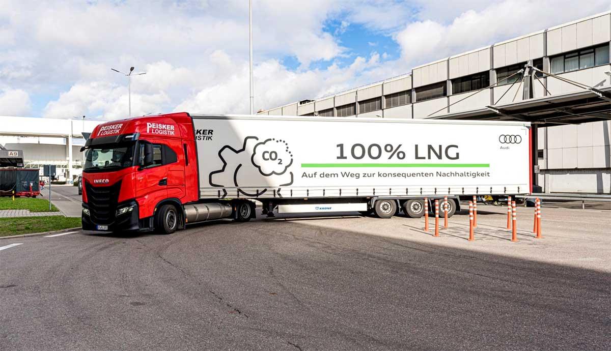 Audi s'équipe de camions GNL pour ses opérations logistiques