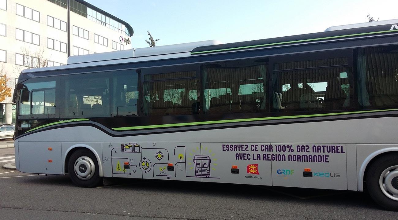 Normandie : un autocar au gaz naturel en test entre Fécamp et le Havre