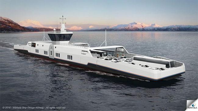 W�rtsil� pr�sente un concept de bateau hybride GNL-�lectrique