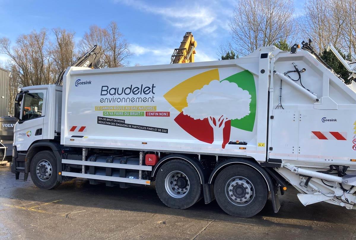 Des bennes à ordures GNV pour Baudelet Environnement