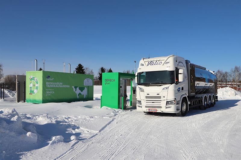 Du bioGNV produit à partir de fumier pour alimenter un camion