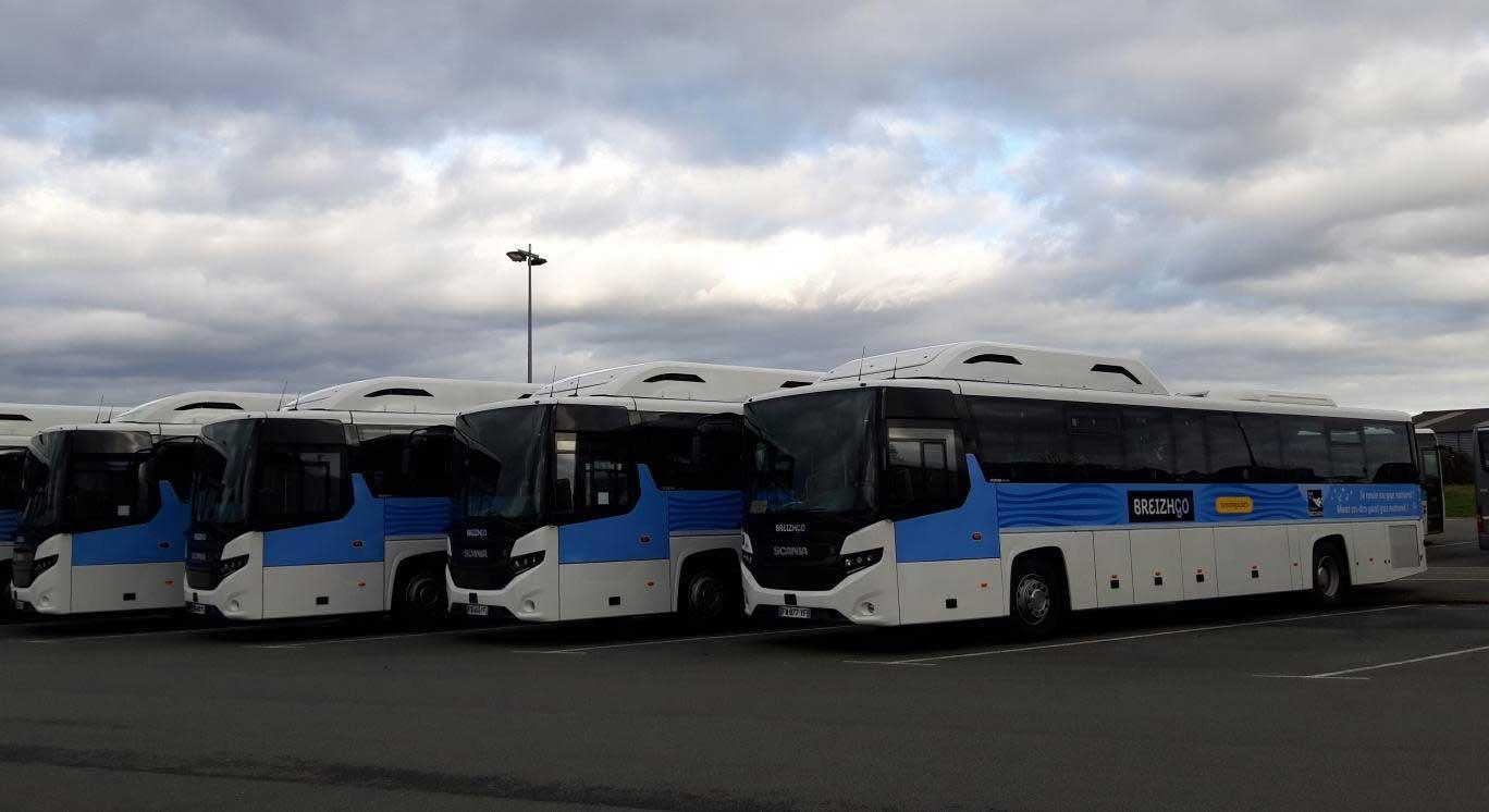 En Bretagne, Illevia reçoit ses nouveaux autocars au gaz naturel