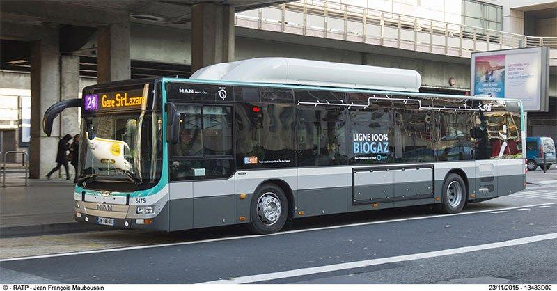 NOx : Airparif donne le bus GNV gagnant face au diesel et à l'hybride