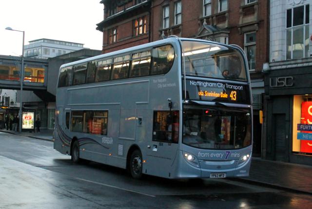 Des bus au biométhane à deux étages pour la ville de Nottingham