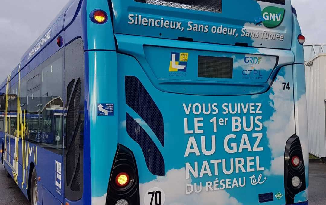L'agglomération de Laon inaugure son premier bus au gaz naturel