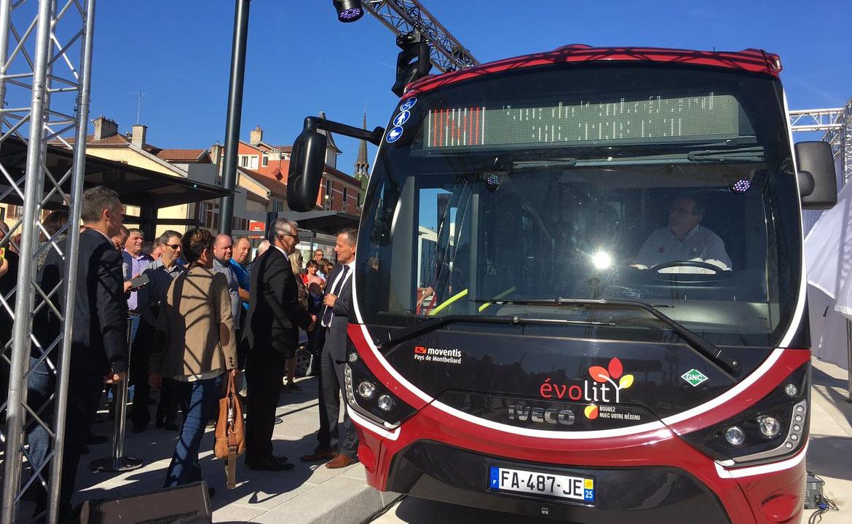 Montbéliard présente les futurs bus GNV du réseau évolitY