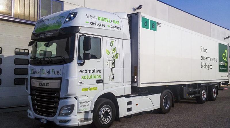 Le premier camion dual-fuel diesel GNC Euro 6 homologué en Italie